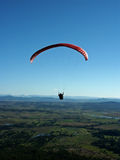 Paraglider. Flying of mount tamborine australia queensland Stock Images