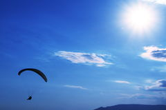 Paraglider. On the sunny background Stock Image