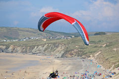 Paraglider above the coast Stock Image