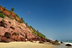 View of Varkala beach Royalty Free Stock Images
