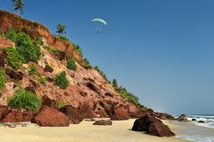 View of Varkala beach Stock Photography