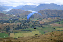 Paraglider above the Queenstown Royalty Free Stock Image