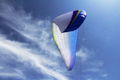 A paraglider against the sky Royalty Free Stock Photo
