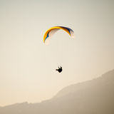 Paraglider in the air Royalty Free Stock Images