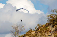 Paraglider in the air Stock Photography