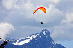 Paraglider in the Alps Royalty Free Stock Images