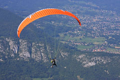 Paraglider in the Alps Royalty Free Stock Image