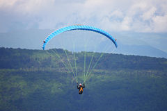 Paraglider in the Alps Stock Photography