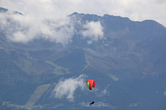 Paraglider in the Alps Royalty Free Stock Photography