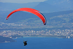 Paraglider in the Alps Royalty Free Stock Photo