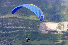Paraglider in the Alps Stock Image