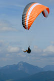 Paraglider in the Alps sky Stock Photography