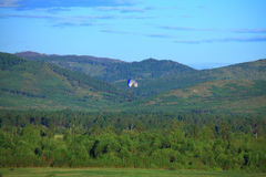 Paraglider on a background of mountains Royalty Free Stock Images
