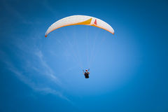 Paraglider at Baltic Sea, blue sky Royalty Free Stock Photo