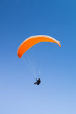 Paraglider at Baltic Sea, blue sky Stock Photography