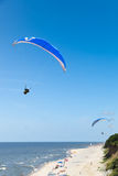 Paraglider at Baltic Sea Stock Photography