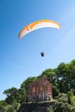 Paraglider at Baltic Sea Royalty Free Stock Images