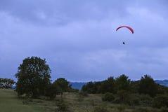 Paraglider Bedfordshire England UK Arkivbild