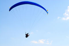 Paraglider in blue sky Royalty Free Stock Images