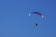 Paraglider on Blue Sky Royalty Free Stock Photos