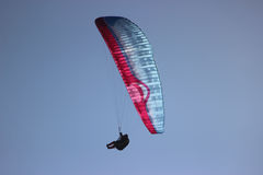 Paraglider on Blue Sky Royalty Free Stock Images