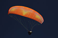 Paraglider on blue sky at oludeniz sport festival Stock Photography