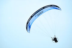 Paraglider at the blue sky Stock Photo