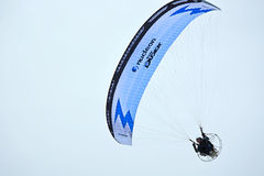 Paraglider at the blue sky Stock Images