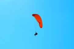 Paraglider in the blue sky Royalty Free Stock Photography