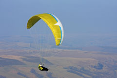 Paraglider in Brecon Beacons Stock Image
