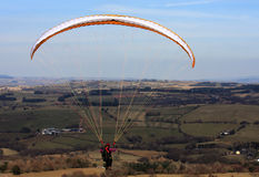 Paraglider in Brecon Beacons Royalty Free Stock Photography