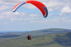 Paraglider in the Brecon Beacons Stock Images