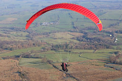 Paraglider in the Brecon Beacons Stock Photography