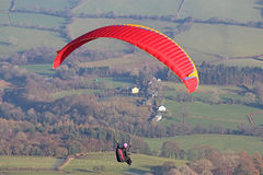 Paraglider in the Brecon Beacons Royalty Free Stock Photos