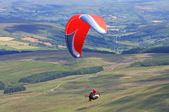 Paraglider in the Brecon Beacons Stock Image