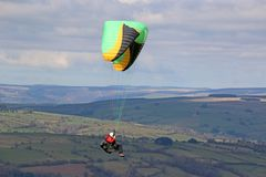 Paraglider in the Brecon Beacons Stock Photo