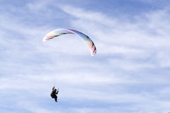 Paraglider at Chateau D'Oex royalty free stock photos