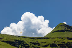 Paraglider Clouds Blue Mountains Stock Photography