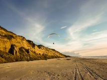 Paraglider. On the coast of Northern Denmark Royalty Free Stock Images