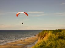 Paraglider. On the coast of Northern Denmark Stock Photo