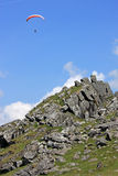 Paraglider on Dartmoor Royalty Free Stock Photography