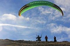 Paraglider on  Dartmoor Royalty Free Stock Photos