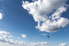 Paraglider and deep sky Stock Images