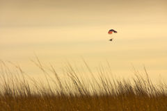 Paraglider Demonstrates Freedom in the Sky at Sunset Stock Photography