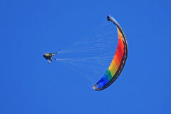 Paraglider doing acrobatics Royalty Free Stock Photos