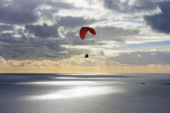 Paraglider at dusk Royalty Free Stock Photography