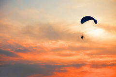 Paraglider - Feeling free on the sky Royalty Free Stock Photo