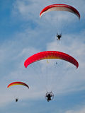 A Paraglider flies Royalty Free Stock Photos
