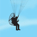 Paraglider flight Stock Image