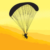 Paraglider Flight At Sunset Royalty Free Stock Photography